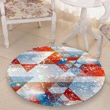 Art 3D round desktop sticker Waterproof non-slip Living room bedroom wood floor Semicircular PVC decorative film