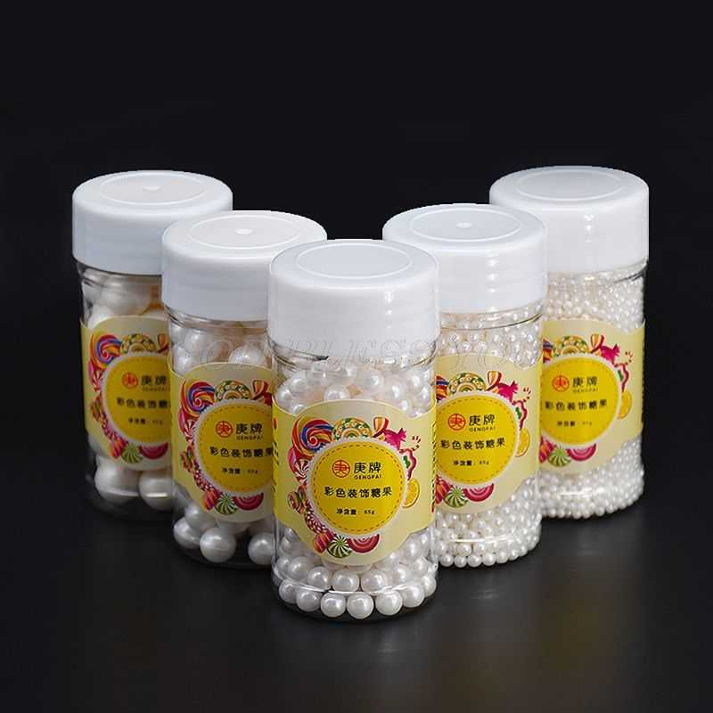 85g White Pearl Candy Sugar Edible Beads DIY Cake Ice Cream Chocolate Craft Decoration Baking Decorative Supply