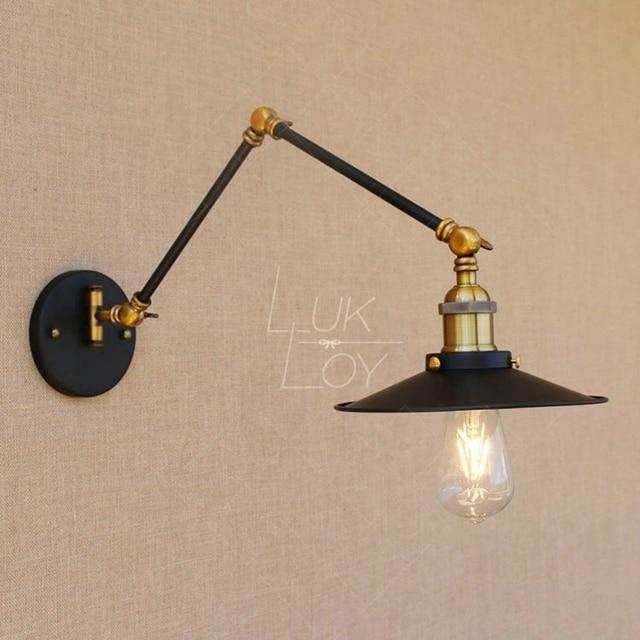 adjustable lighting fixtures. LukLoy E27 Retro Industrial Vintage Adjustable Wall Lamp Light Metal Rustic Lighting Fixtures For Home Office T