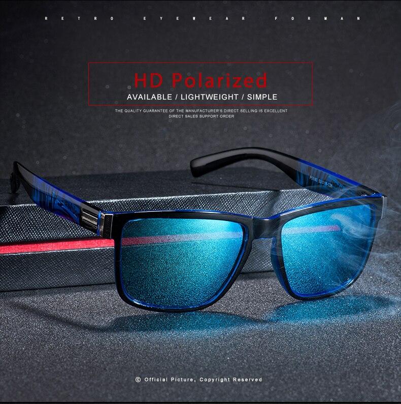 ASUOP 2019 New Men's Polarized Sunglasses UV400 Fashion Square Ladies'Glasses Classic Retro Brand Design Driving Sunglasses (10)