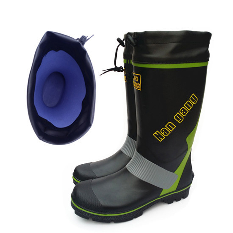 Mens Rubber Rain Boots Waterproof Fishing Boots with Steel Nails Outsole Waterproof Non - Slip Rainboots for Men