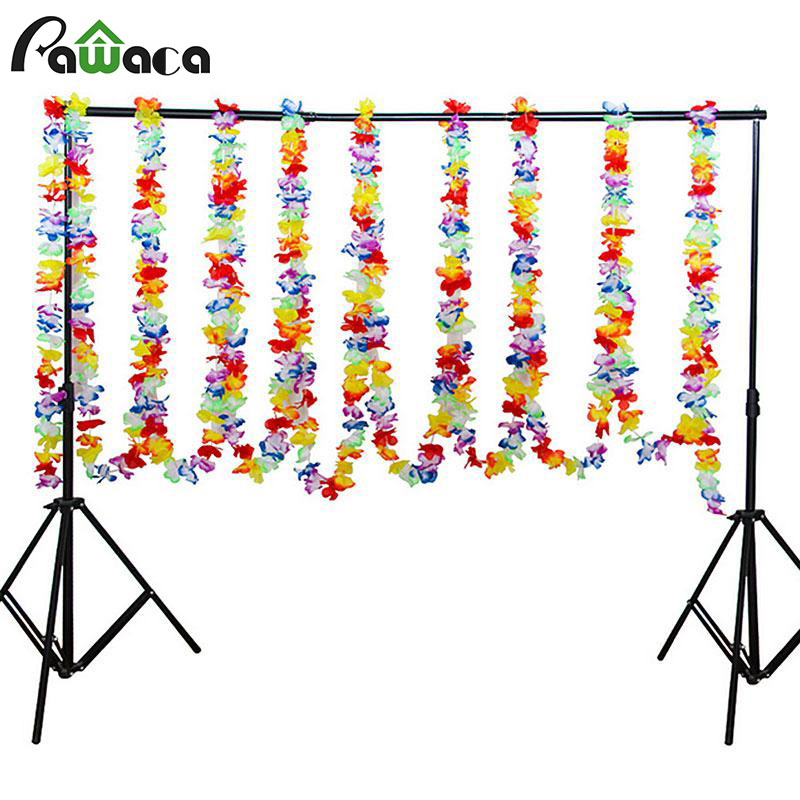 2/6/10 Meters Long Multicolor Tropical Flower Lei Garland Necklace Flower Leaves Banner For Hawaiian Luau Party Favors Decor
