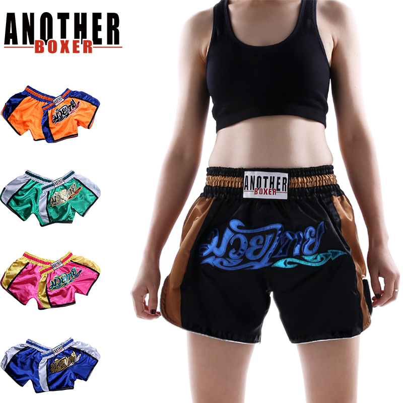 Muay Thai Boxing Shorts Training Kick MMA Trunks Fight Gym Workout Fitness Wear