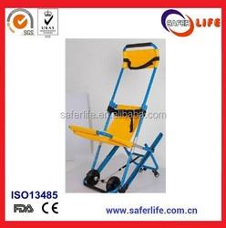Medyczne ze stopu aluminium ze stopu aluminium ewakuacji krzesło schodowe nosze