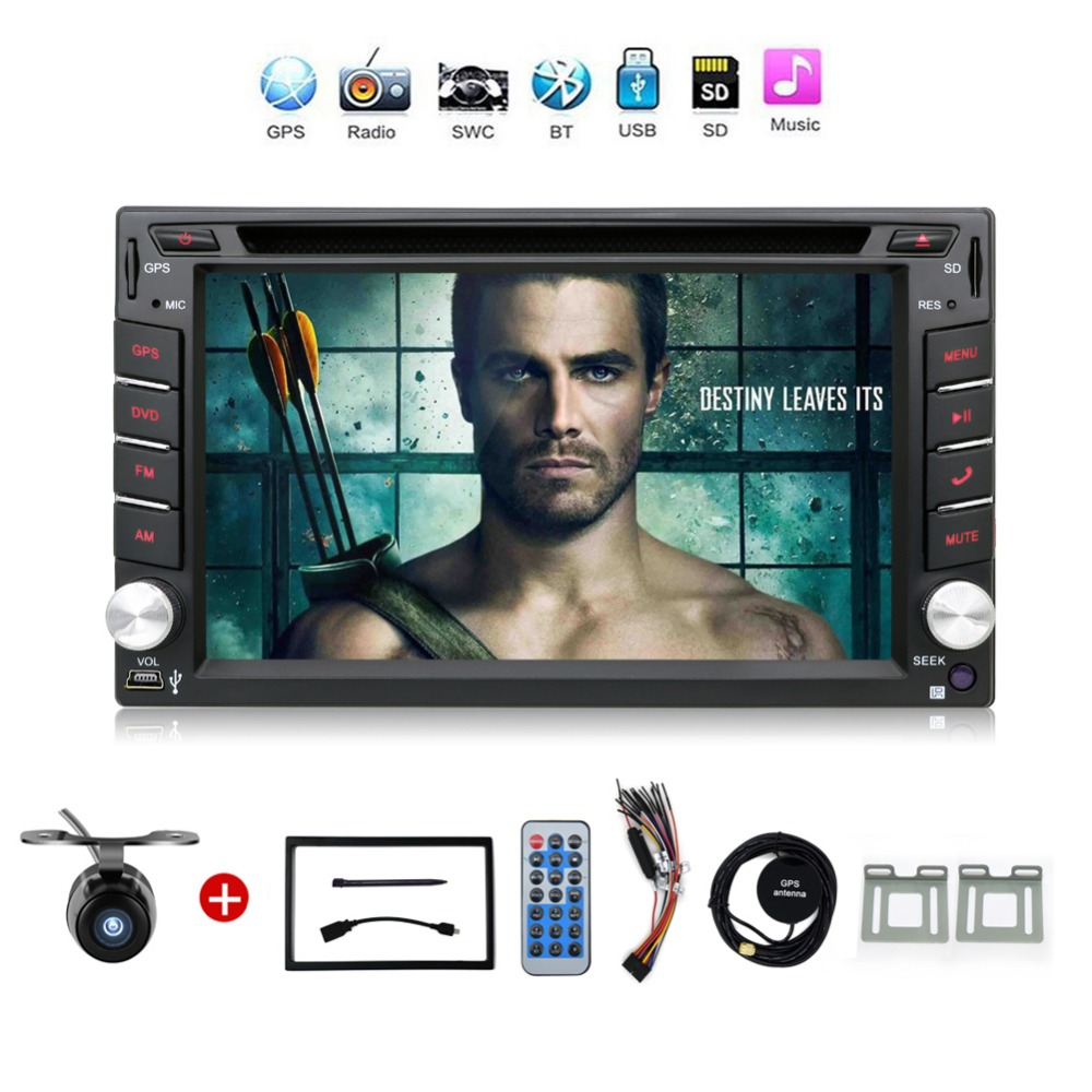 2 din radio car dvd player gps navigation tape recorder autoradio cassette player for car radio. Black Bedroom Furniture Sets. Home Design Ideas