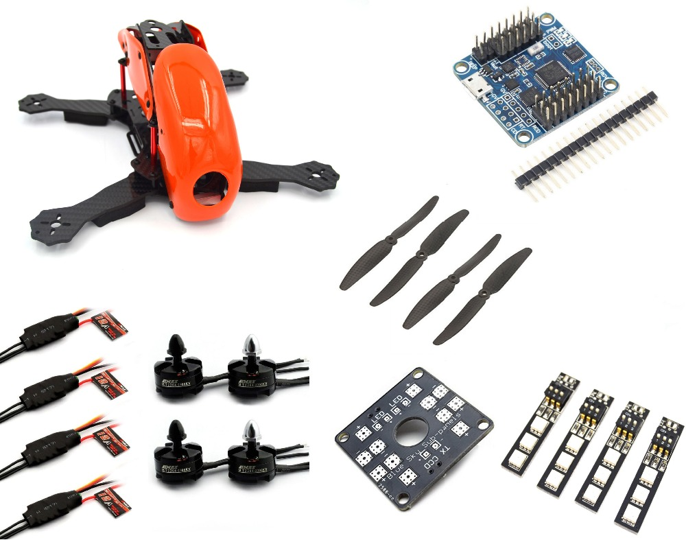Robocat 270mm drone with camera 12A ESC Naze32 orange 3K Carbon fpv Fiber RC plane LHI 2204 Motor mini dron Quadcopter