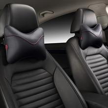 цена на leather car seat cushion pillow Car Headrest Breathe Car Auto Seat Head Neck Rest Cushion Headrest Pillow Pad