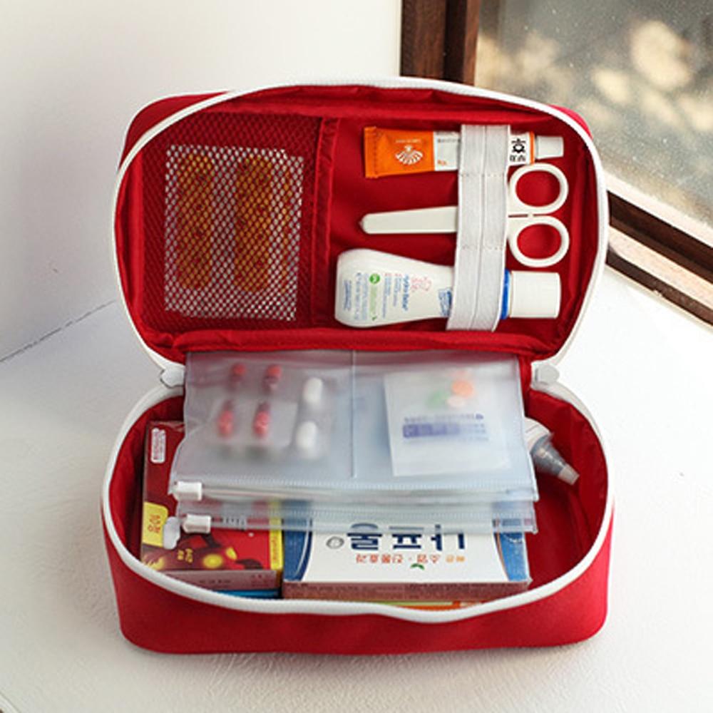 Korean Style First Aid Kit Väska Väska Military Survival Travel - Resetillbehör - Foto 3