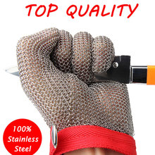100% Stainless Steel Mesh Knife Cut Resistant Protective Glove High Perfomance for Kitchen Butcher Working Safety
