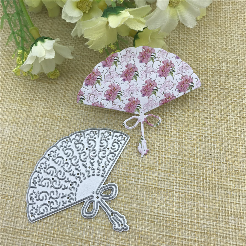 Sector Folding Fan Metal Cutting Dies For DIY Scrapbooking Album Embossing Paper Cards Decorative Crafts