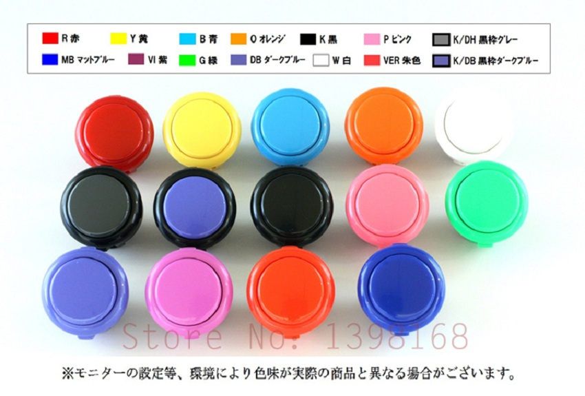 20PCS Original sanwa Rocker sanwa 30mm button push button switch OBSF 30 original sanwa button free