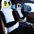 AUTOCROWN Hot Sale Universal Car Seat Interior Accessories faux fur Material Car Seat Cover  Easy to install  panda 2016new
