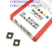 כלי קרביד כלי cnc CCMT060208 / CCMT060204 PM4225 קרביד Blade עבור כלי CNC מכונת חריטה כרסום CCMT פנימי מפנה שבבי (2)