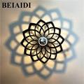 BEIAIDI Креативный светодиодный настенный светильник  абажур  проекция теней  ночник  потолочные светильники для спальни  коридор  балкон  бра