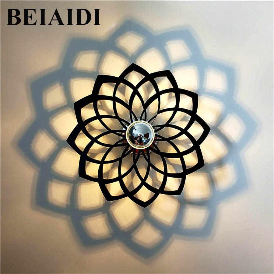 BEIAIDI Criativa LIDERADA Lâmpada de Parede Abajur Sombra Projeção Night Light Quarto luminárias de teto Varanda Corredor arandela