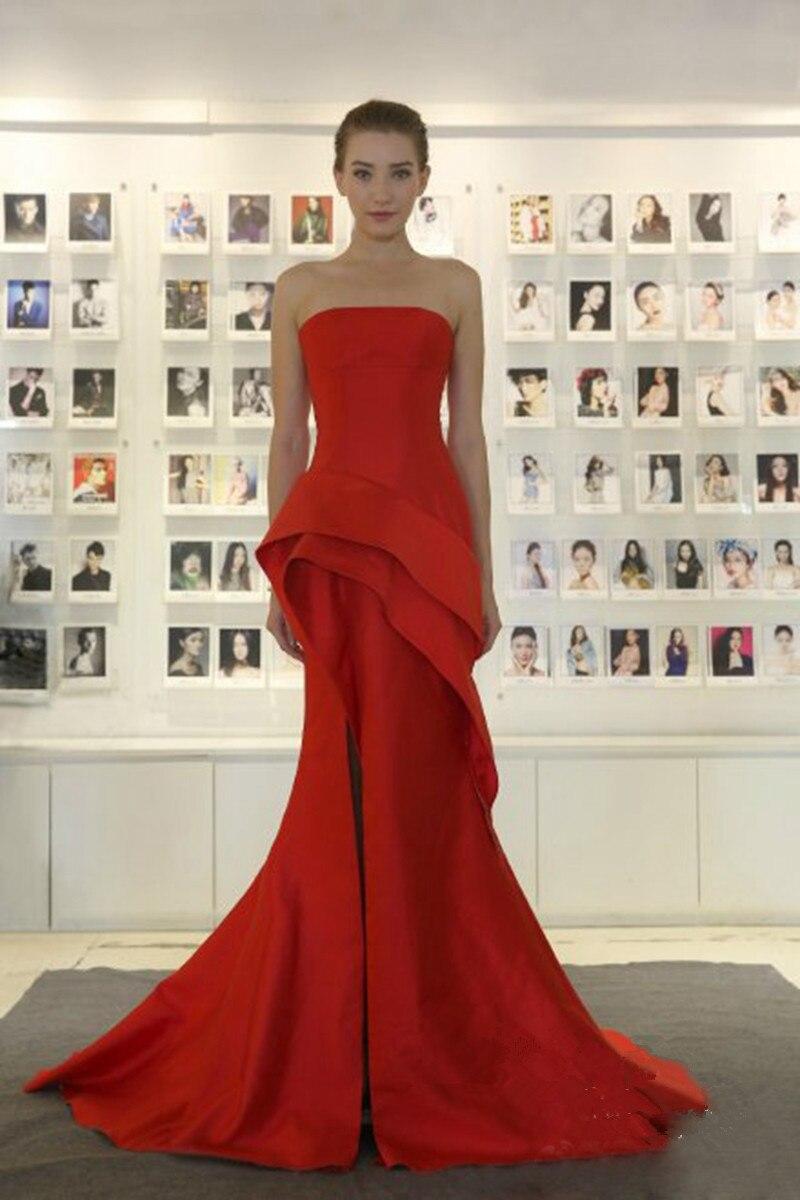 strapless red mermaid evening dress elie saab dresses 2017. Black Bedroom Furniture Sets. Home Design Ideas