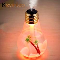 Difusor de aceite esencial de bombilla de 400ML LED ultrasónico Puerto USB planta árbol 3 colores para la opción difusor de Aroma Difusores humidificador Usb