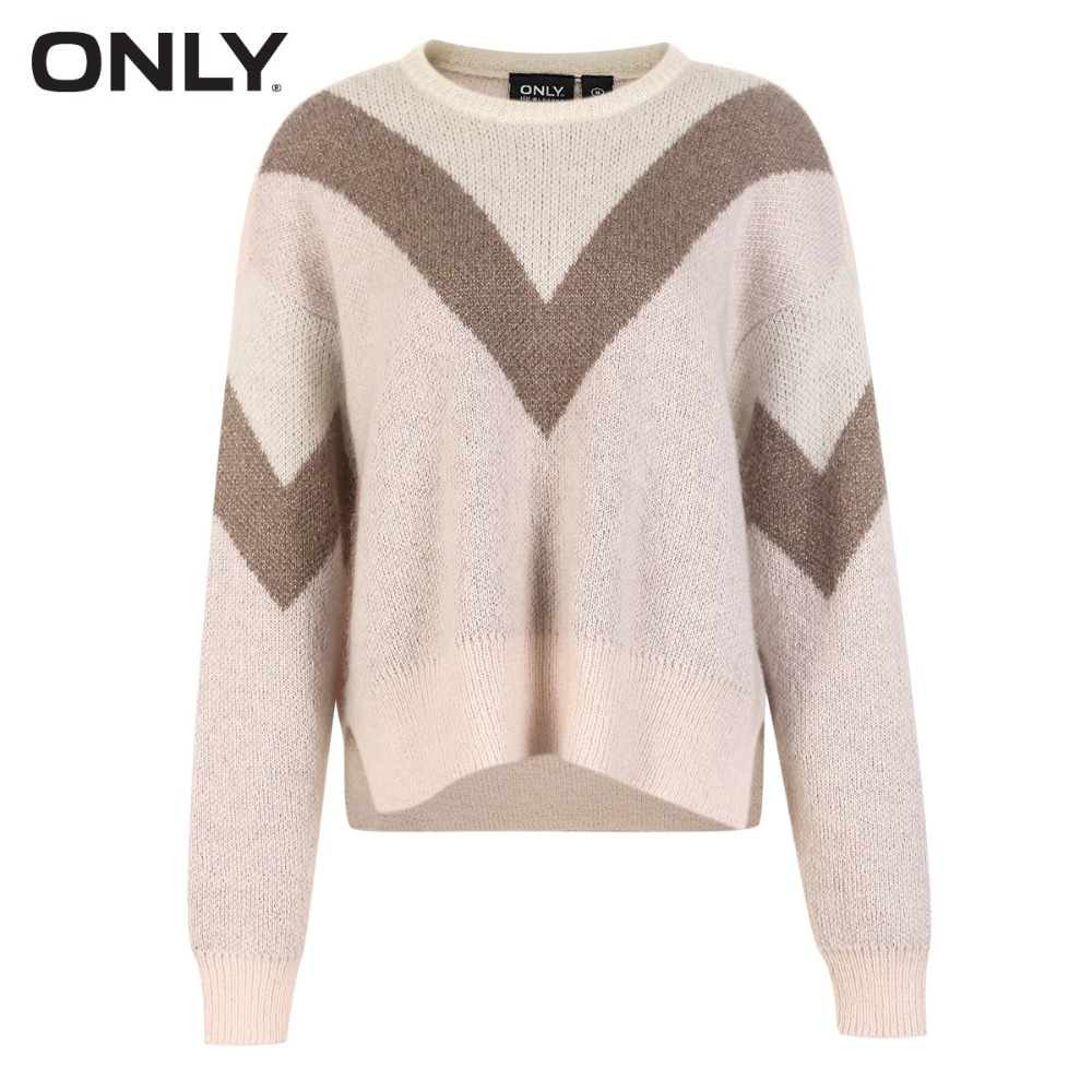 Image 5 - ONLY Women's Metal Wire Assorted Colors Knitted Pullover Sweater118324556-in Pullovers from Women's Clothing