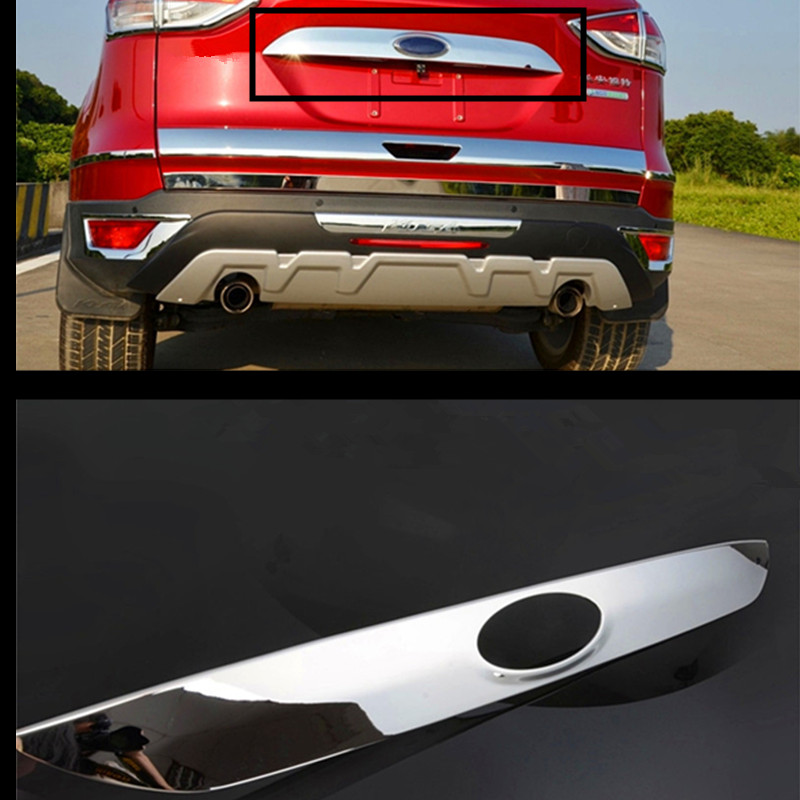 High Quality Car-styling Car Rear Trunk Trim Tailgate Trim For Ford Kuga escape 2013 2014 2015 ABS Chrome 1pc Car Accessories