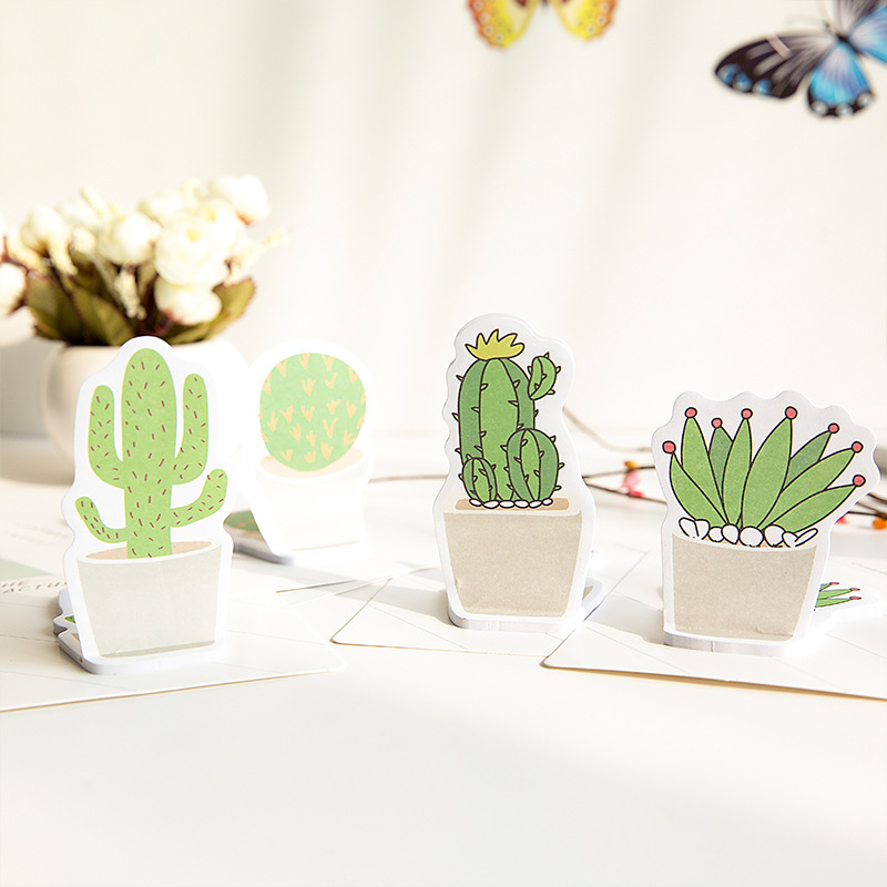 1 X cute Cactus Love memo pad paper sticky notes post it kawaii stationery papeleria school supplies material escolar BLT46 rainbow northern europe memo pad paper sticky notes notepad post it stationery papeleria school supplies material escolar