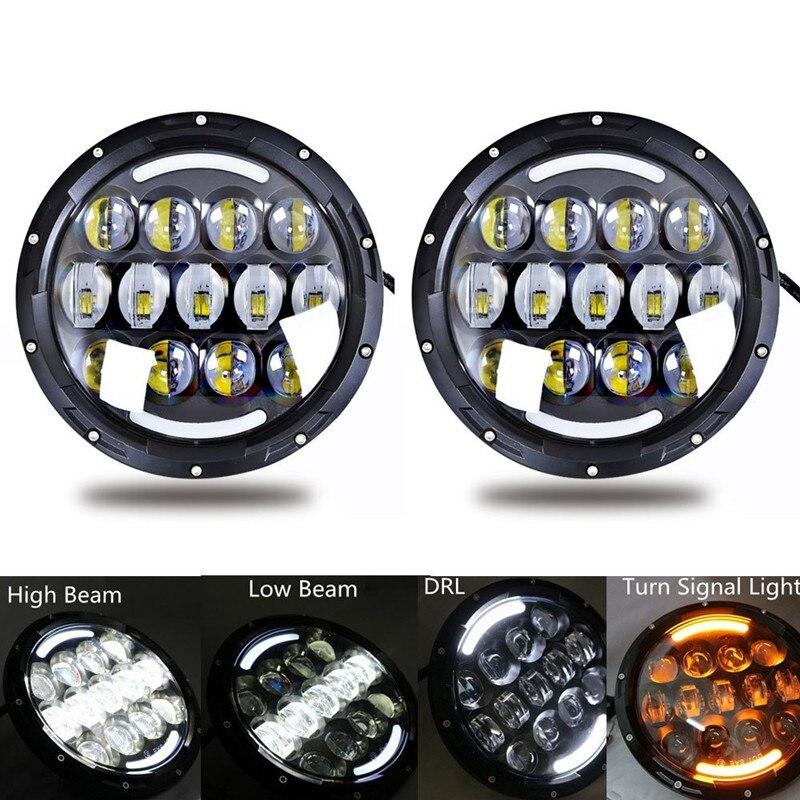 Aliexpress.com  Buy White 7  Round H4 LED DRL Headlight 105w + 4  Fog Light w/ Halo Ring + Tail light for 2007 2017 Jeep Wrangler JK Unlimited JK from ...  sc 1 st  AliExpress.com & Aliexpress.com : Buy White 7