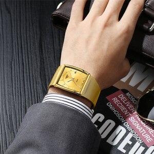 Image 5 - Nibosi relógios masculinos marca de luxo à prova dwaterproof água esporte relógio masculino casual malha ultra fina pulseira quartzo relógio pulso relogio masculino