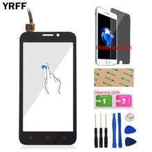 YRFF Para Huawei Y541 U02 Y541U02 Y5 Y5c Touch Screen Digitador Vidro Dianteiro Len Painel Sensor de Ferramentas Adesivo Filme Protetor Livre