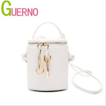 GUERNO Women's bucket bag hand bill of lading shoulder slung leather women's mini bucket bag al148