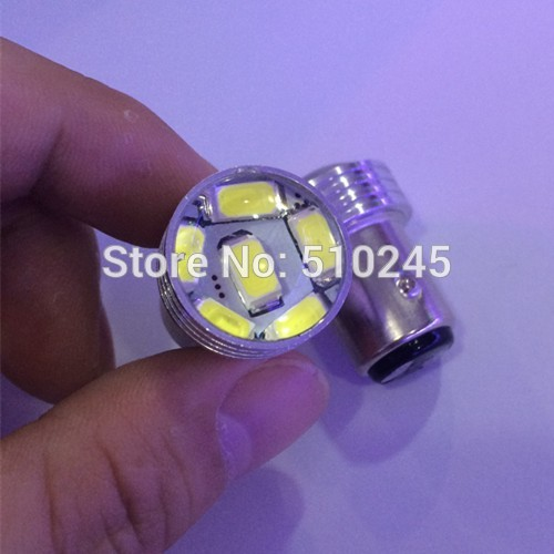 100X wholesale 12V led auto Car styling project lens s25 6SMD 1157 6 led SMD 5630 5730 Brake parking light Bulb free shipping