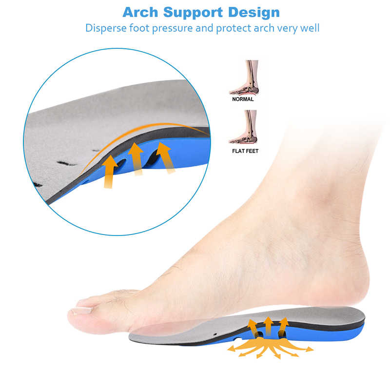 Sunvo 3/4 Length Heel Inserts Arch Support Insoles for Men Women Sport Cushion Breathable Running Orthopedic Shoes Soles Pads