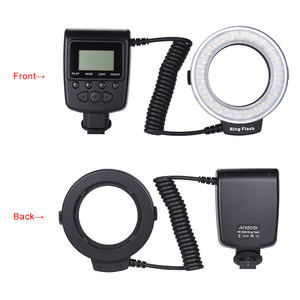 Image 5 - Andoer RF 550D Macro 48 LED Ring Light Ringlight for Canon Nikon Pentax Olympus Sony DSLR LCD Display Power Control