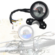 цена на Universal Motorcycle Speedometer LED Light Odometer Speed Meter Gauge For Motorcycle GN125 CG125