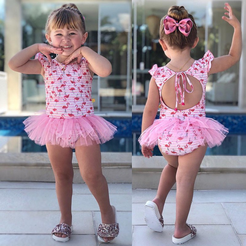 Swimsuit For Baby Girl Clothes Summer Cartoon Newborn Siamese Swimwear New