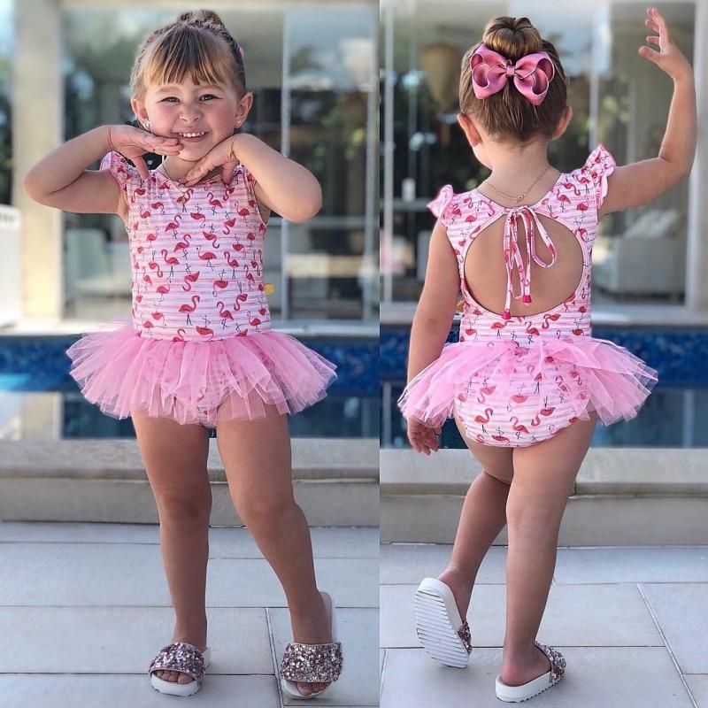 Swimsuit For Baby Girl Clothes Summer Cartoon Newborn Siamese Swimwear New
