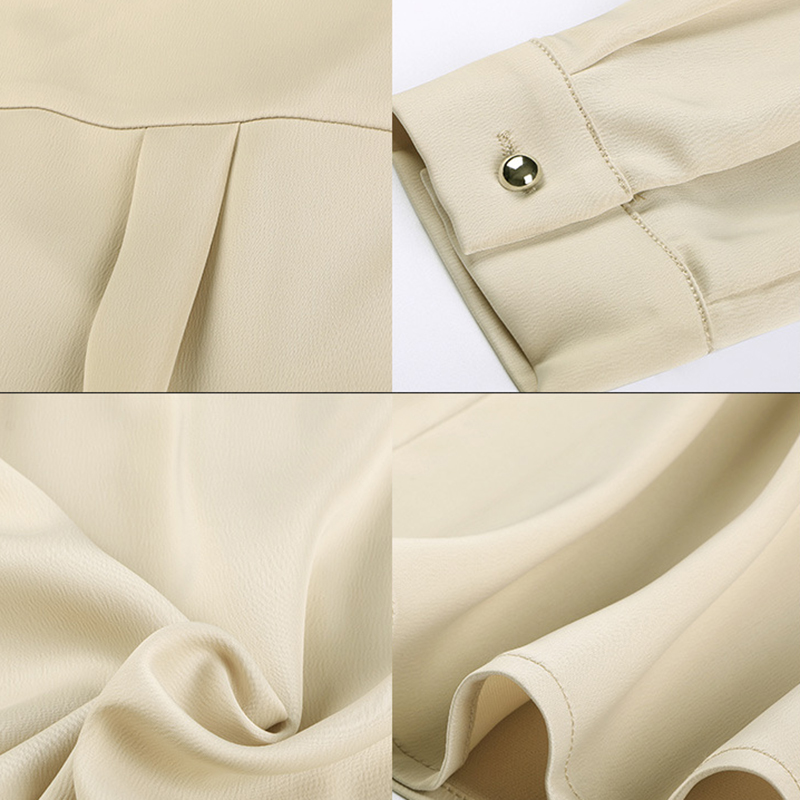 10d5d900f Aliexpress.com  Comprar Elegante señora v cuello seda blanco blusas ...