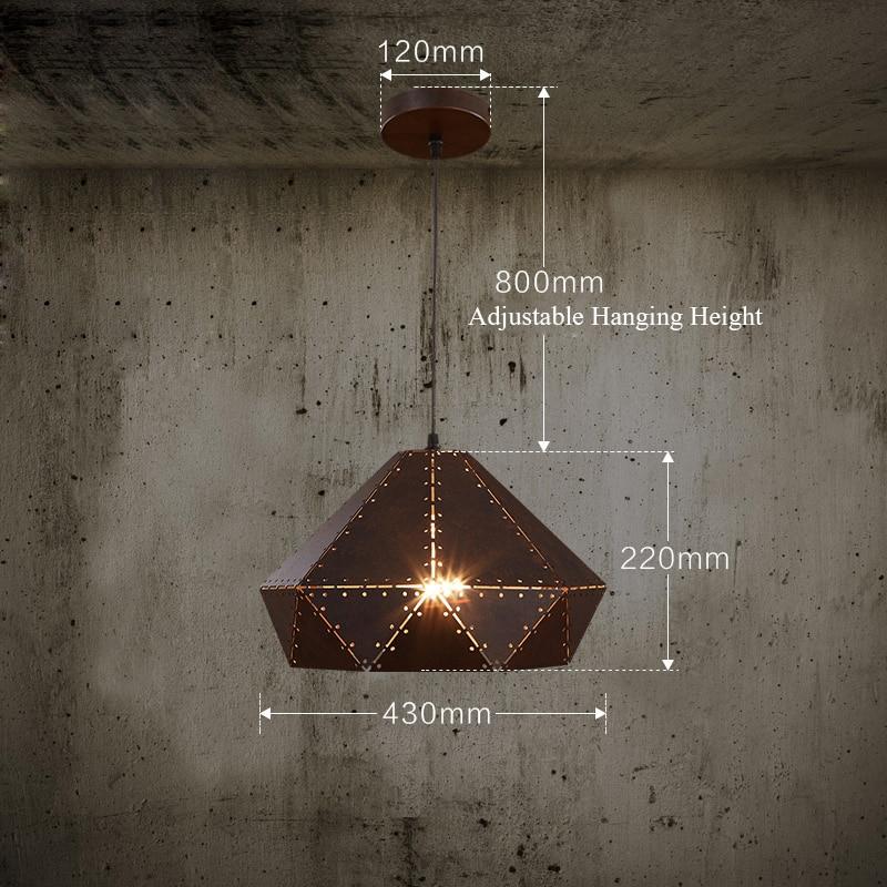 Vintage abajur AC90 260V LED luminaire suspendu Trap¨ze suspendus