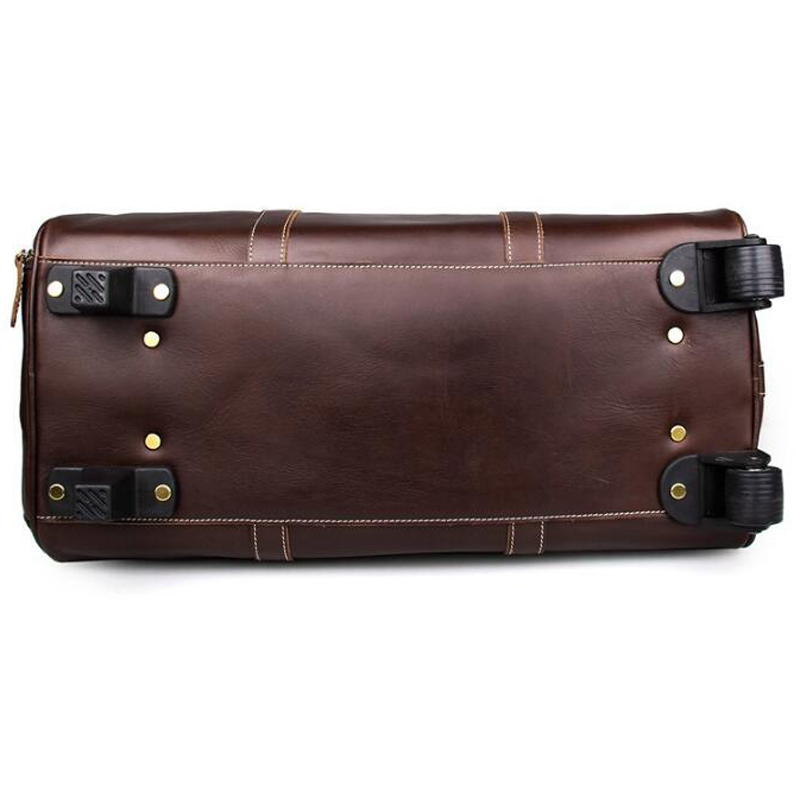 7ff5336078a ANAPH Unisex Rolling Luggage Calfskin Leather Airplane Suitcase  Travel  Wheeled Duffle Bag  21 Inch Business Reise Koffer-in Rolling Luggage from  Luggage ...