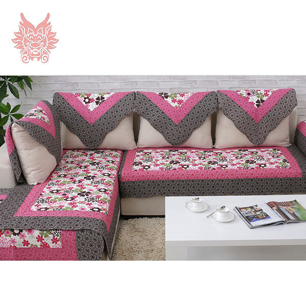 European Style Red Floral Print Sofa Cover 100%cotton Cloth Quilting  Slipcovers Winter Canape For Top Fashion Sofa SP1706 In Sofa Cover From  Home U0026 Garden ...