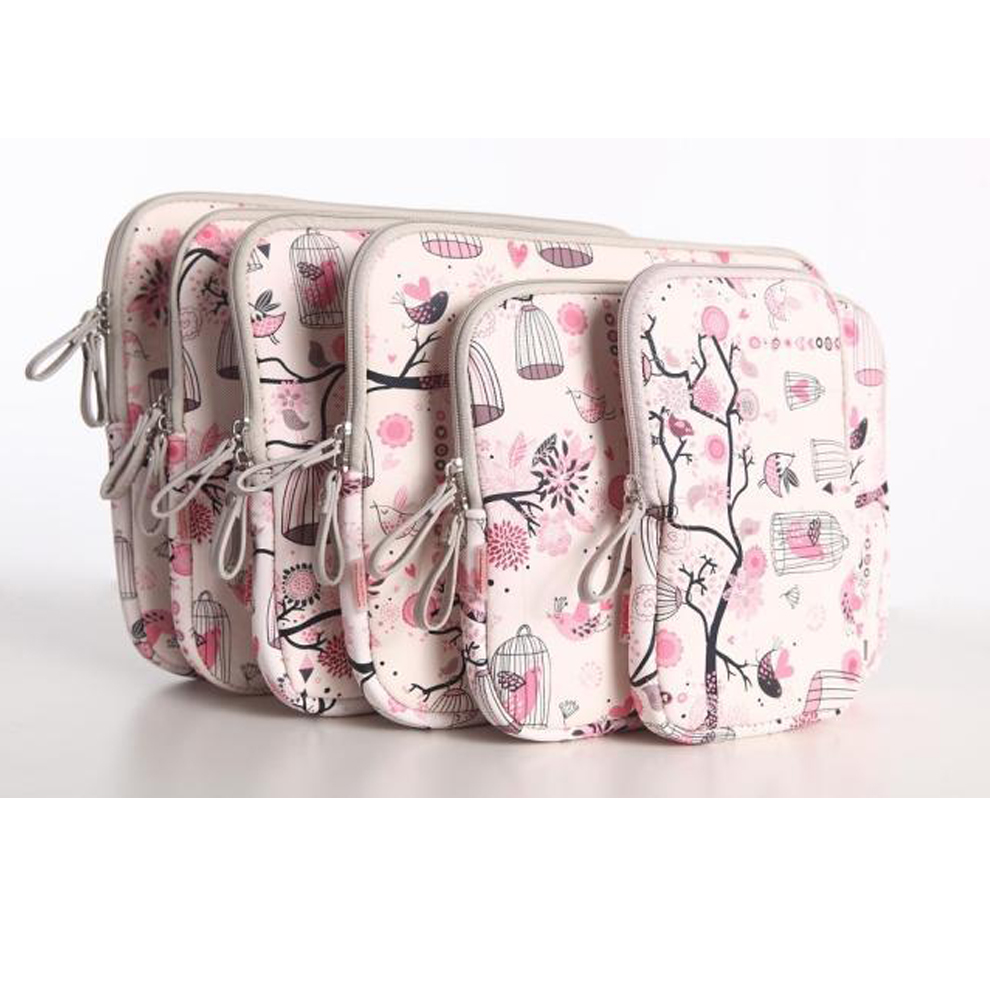 11 12 13 14 15 inch Laptop Liner bag for Macbook Notebook Air Pro 13 15 Floral Laptop Sleeve Handbag for HP Dell 15.6 inch