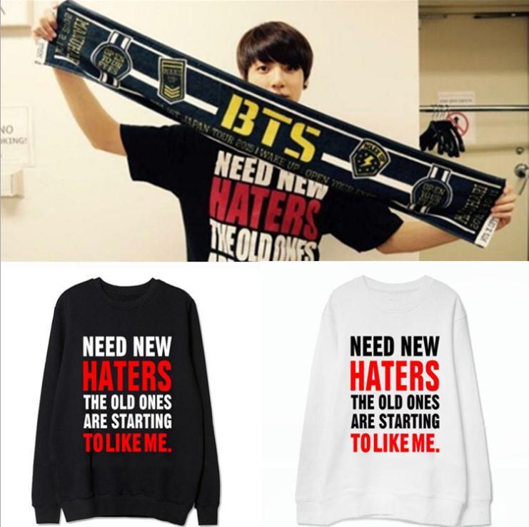 BTS Bangtan Garçons kpop concert JUNG KOOK Hoodies femmes automne k-pop bts album vêtements Sweats Outerwears sweat-shirt Manteau tops