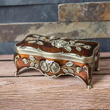 Размер S винтажная шкатулка для ювелирных изделий эмаль нескольких цветов цинковый сплав металлическая коробка для безделушек цветок резной подарок зубочистка ватный тампон коробка для хранения