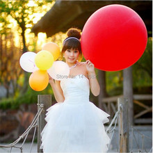 10 PCS/lot Colorful Super Large Balloons Helium Inflable100% Latex Birthday Wedding Party Decor Round Big Giant Balloon