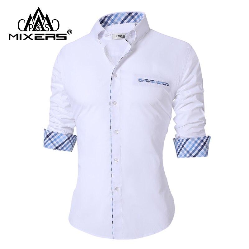 New Design 2018 Men's Casual Shirts Long Sleeve Turn Down Collar Men's Casual Shirt Office Dress Shirt Men Camisa Masculina