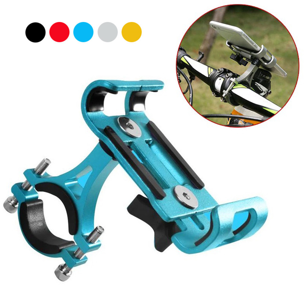 Cell-Phone-Holder Mount-Handlebar Bicycle Universal Bike Aluminum Portable No Stents