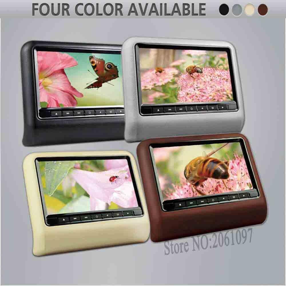 BigBigRoad Car Headrest Monitor 10.1 Car Digital Screen DVD with HDMI USB SD DVD Player Games IR Remote Control