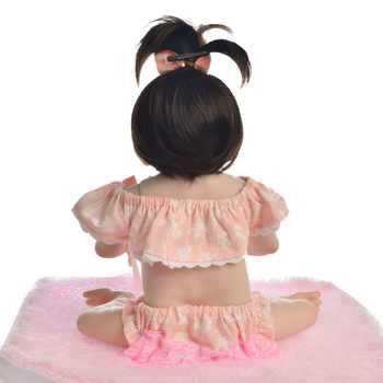 KEIUMI Lovely Baby Reborn Girl Doll Full Silicone Body Lifelike Bonecas Newborn Princess Babies Bebe Bathe Toy Birthday Present