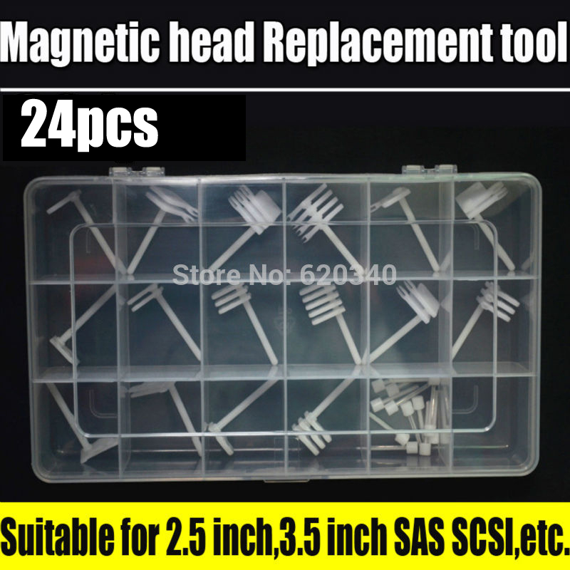 24/pcs Hard drive head replacement tool Hard disk repair tools For the 2.5-inch to 3.5-inch SAS SCSI Seagate Maxtor Samsung...