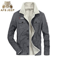 2017 Afs Jeep Winter Parkas Men Thicken Coats Jackets Short Fleece Casual Fashion Warm Drop Shipping