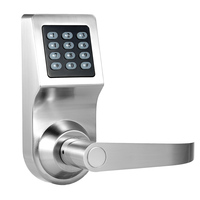 Electronic Keyless Keypad Door Coded Lock Unlocked by Password + RF Card + Remote Control + Mechanical Key Home Security