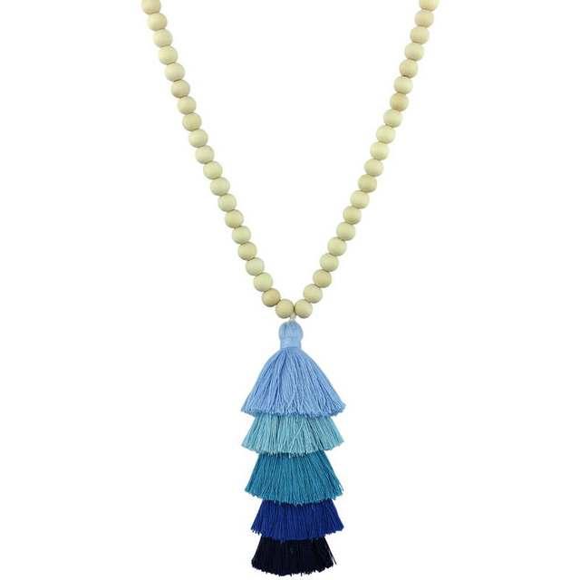 2018 Wooden Necklace Wood Beads Chain Tassel Pendant Long Necklace Women Fashion Texas Bohemian Jewelry Moana Tassel Necklace